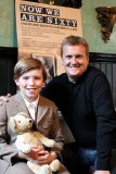 Click to a larger version of Publicity shot - Christopher Robin (Steffan Wayne) with star, Aled Jones.